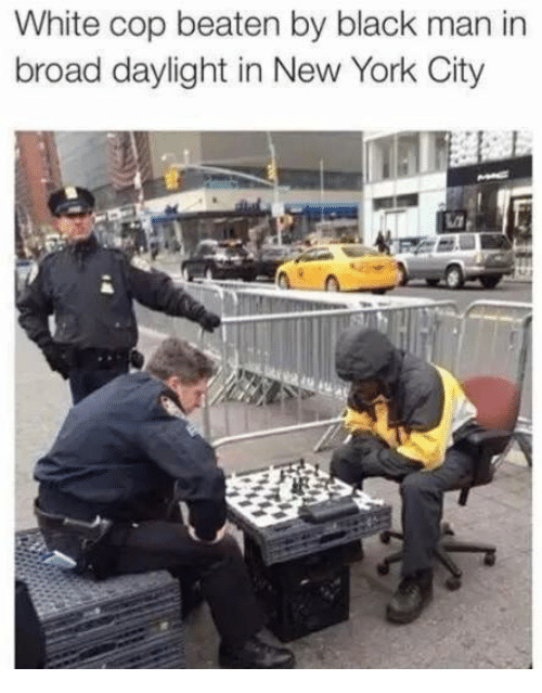 Dank Memes: White cop beaten by black man in  broad daylight in New York City