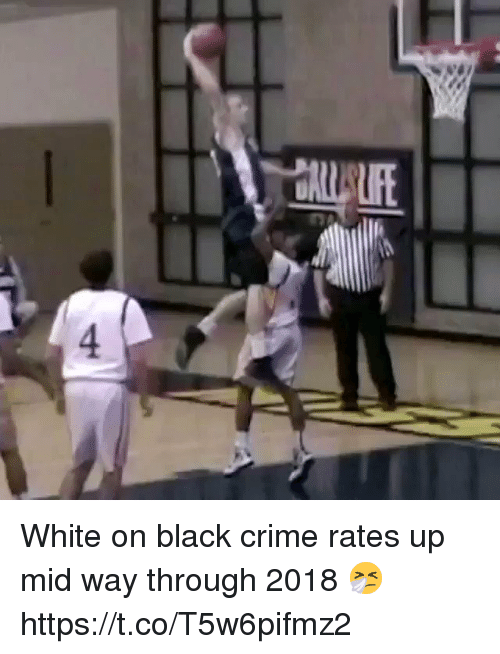 Basketball, Crime, and White People: White on black crime rates up mid way through 2018 🤧 https://t.co/T5w6pifmz2