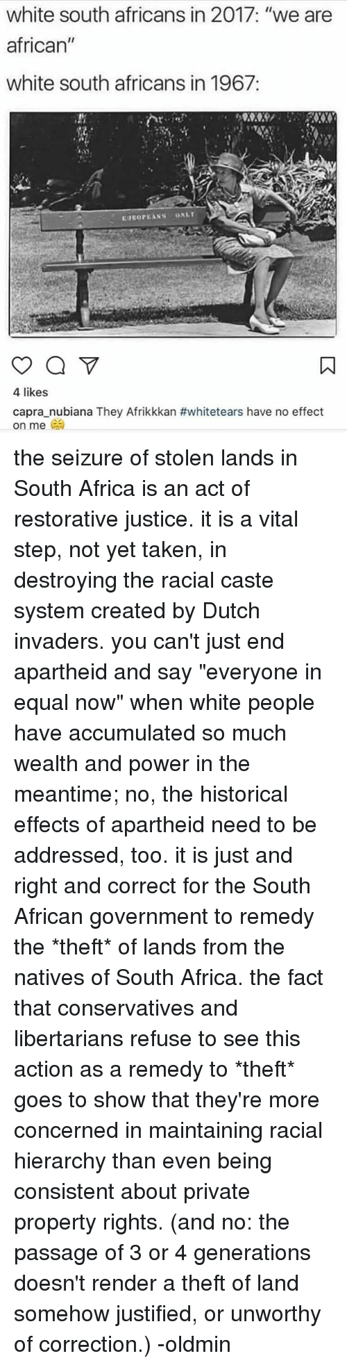 White south africans are assholes