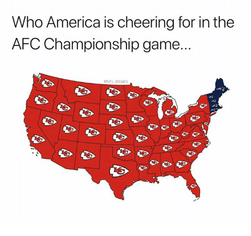 Afc Championship: Who America is cheering for in the  AFC Championship game...  NFL MEMES