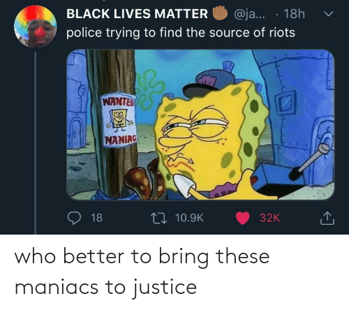 These: who better to bring these maniacs to justice