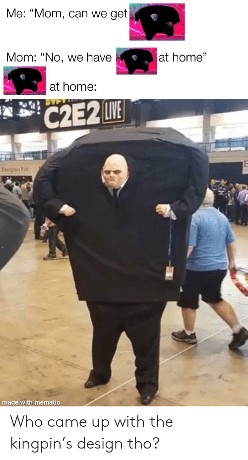 kingpin: Who came up with the kingpin's design tho?