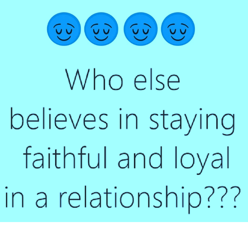 how to keep the faith in a relationship