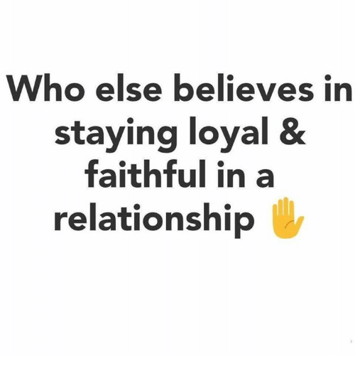 staying faithful in a relationship