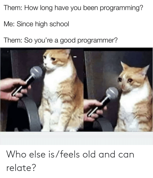 Programmer Humor: Who else is/feels old and can relate?