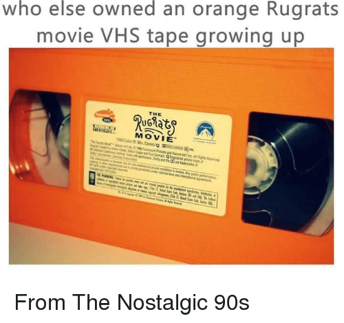 "ugs: who else owned an orange Rugrats  movie VHS tape growing up  THE  UG员北  MOVIE'  1998Cor/81 Min/Stereo g ociiiialqa  81 Min/Stereo/g Rea  ir! ,sc,""e PinutPetin and Vacon int Inc A: Rights Renes From The Nostalgic 90s"