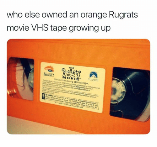 Growing Up, Rugrats, and Movie: who else owned an orange Rugrats  movie VHS tape growing up  THE  MOVIE