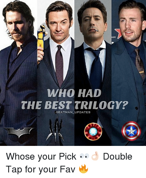 Batman, Best, and Dekh Bhai: WHO HAD  THE BEST TRILOGY?  BATMAN UPDATES Whose your Pick 👀👌🏻 Double Tap for your Fav 🔥