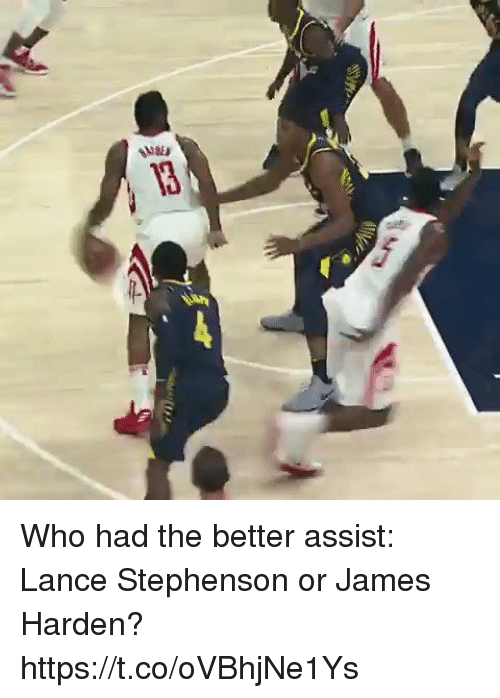 James Harden, Lance Stephenson, and Memes: Who had the better assist: Lance Stephenson or James Harden? https://t.co/oVBhjNe1Ys