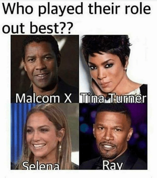 malcom x: Who played their role  out best??  Malcom X Tina Tunner