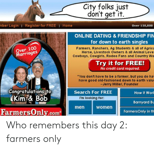 farmers only: Who remembers this day 2: farmers only