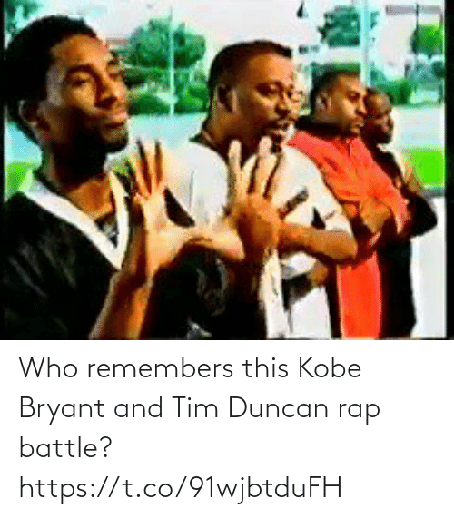 Rap battle: Who remembers this Kobe Bryant and Tim Duncan rap battle? https://t.co/91wjbtduFH