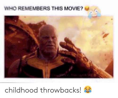 Remembers: WHO REMEMBERS THIS MOVIE? childhood throwbacks! 😂