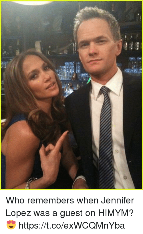Jennifer Lopez: Who remembers when Jennifer Lopez was a guest on HIMYM? 😍 https://t.co/exWCQMnYba