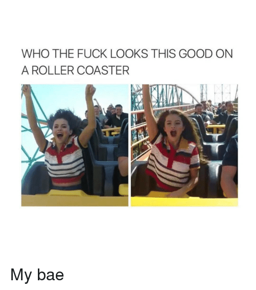 Rollers: WHO THE FUCK LOOKS THIS GOOD ON  A ROLLER COASTER My bae