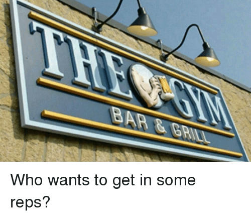 Funny, Who, and Get: Who wants to get in some reps?