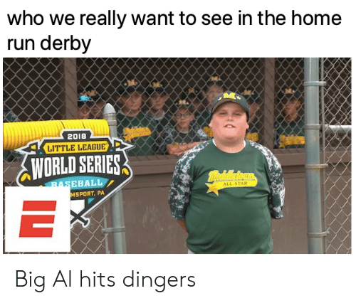 World Series: who we really want to see in the home  run derby  2018  LITTLE LEAGUE  WORLD SERIES  mealeoun  BASEBALL  ALL-STAR  MSPORT, PA  IL Big Al hits dingers