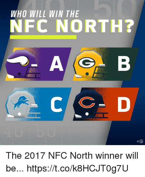 Memes, Nfl, and 🤖: WHO WILL WIN THE  NFC NORTH?  C@  NFL The 2017 NFC North winner will be... https://t.co/k8HCJT0g7U