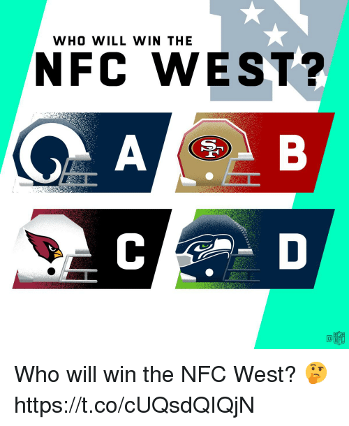 Nfc West: WHO WILL WIN THE  NFC WEST?  tg. Who will win the NFC West? 🤔 https://t.co/cUQsdQIQjN