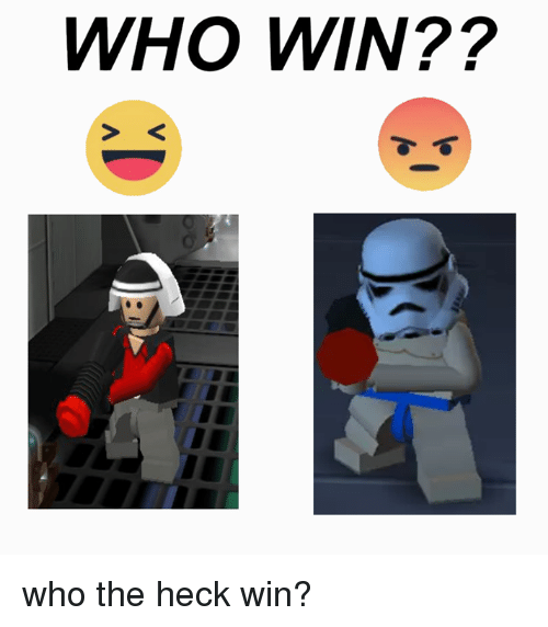 Lego Star Wars and Heck: WHO WIN?? who the heck win?
