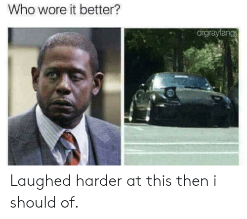 Wore It: Who wore it better?  drgrayfang Laughed harder at this then i should of.