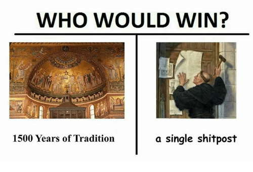 Classical Art, Single, and Who: WHO WOULD WIN?  1500 Years of Tradition  a single shitpost