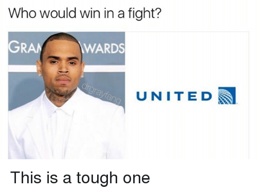 United, Dank Memes, and Tough: Who would win in a fight?  WARDS  UNITED This is a tough one