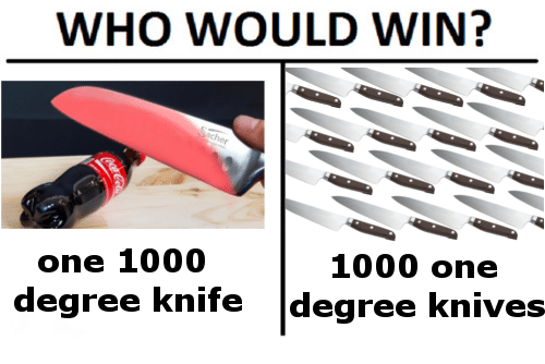 1000 Degree Knife: WHO WOULD WIN?  one 1000  degree knife degree knives  1000 one