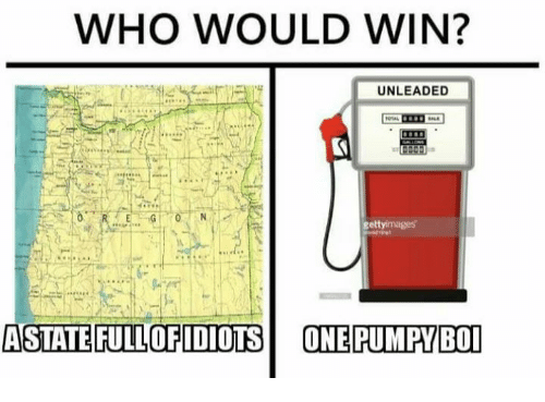 Memes, 🤖, and Boi: WHO WOULD WIN?  UNLEADED  gettyimages  ASTATE FULLOFIDIOTSONE PUMPY BOI