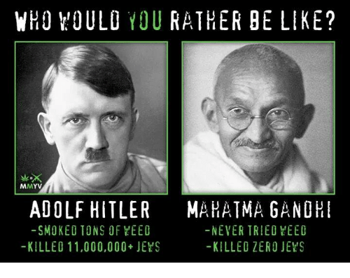 a comparison of adolf hitler and martin luther king jr Adolf hitler, leader of the nazi party committed one of the most heinous acts of genocide in human history martin luther king jr on the other hand, was a civil rights advocate who tore down the walls of colored segregation.