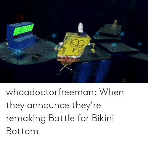 Bikini Bottom: whoadoctorfreeman:  When they announce they're remaking Battle for Bikini Bottom