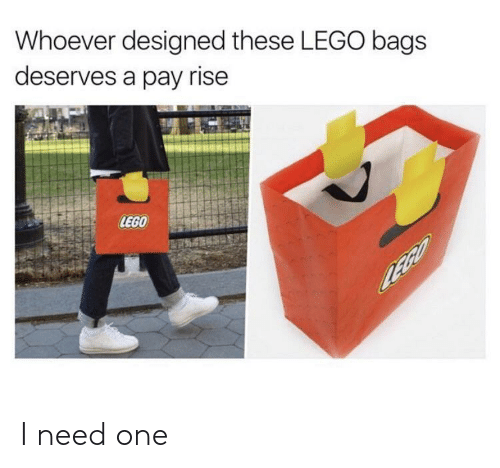 bags: Whoever designed these LEGO bags  deserves a pay rise  LEGO I need one