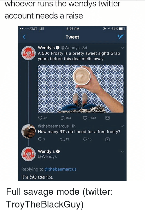 Funny Meme Twitter Accounts : Whoever runs the wendys twitter account needs a raise