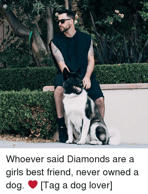 dog lovers: Whoever said Diamonds are a girls best friend, never owned a dog. ❤️ [Tag a dog lover]