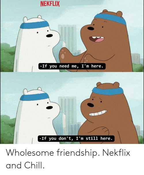 Chill, _______ and Chill, and Wholesome: Wholesome friendship. Nekflix and Chill.