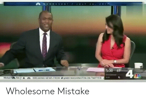 Wholesome: Wholesome Mistake