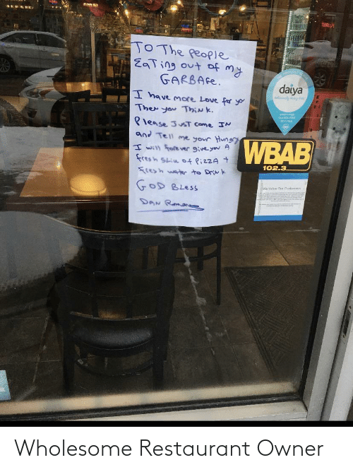 Restaurant: Wholesome Restaurant Owner