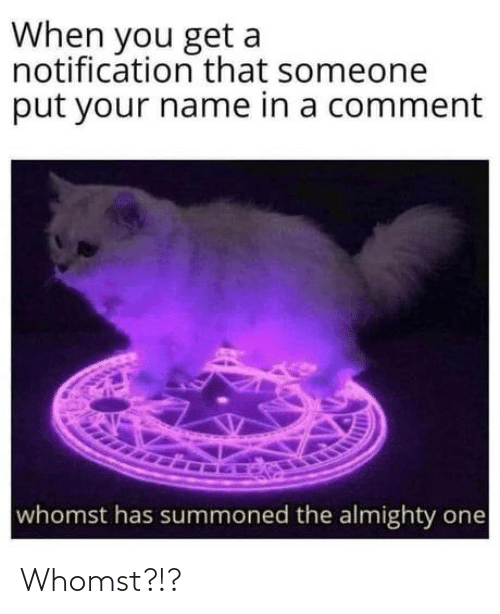 Whomst: Whomst?!?