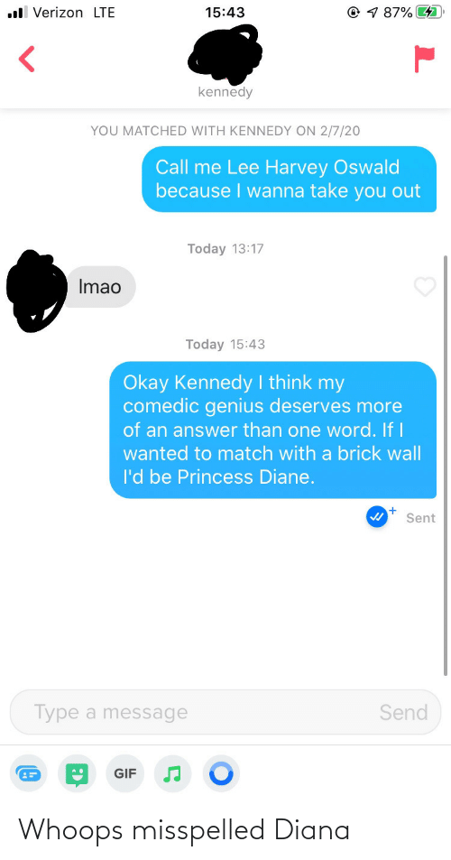 Diana,  Whoops, and Misspelled: Whoops misspelled Diana