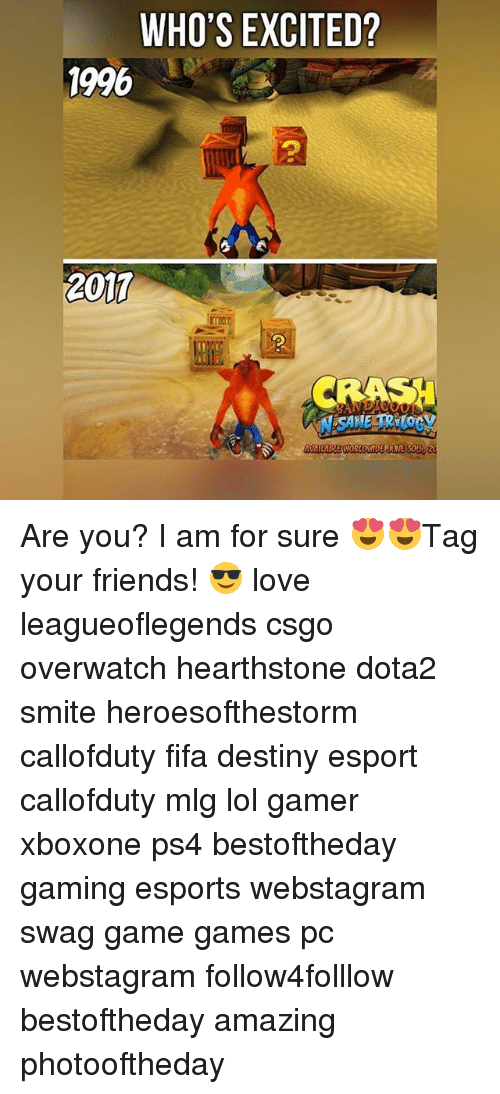 hearstone: WHO'S EXCITED?  1996  2017 Are you? I am for sure 😍😍Tag your friends! 😎 love leagueoflegends csgo overwatch hearthstone dota2 smite heroesofthestorm callofduty fifa destiny esport callofduty mlg lol gamer xboxone ps4 bestoftheday gaming esports webstagram swag game games pc webstagram follow4folllow bestoftheday amazing photooftheday