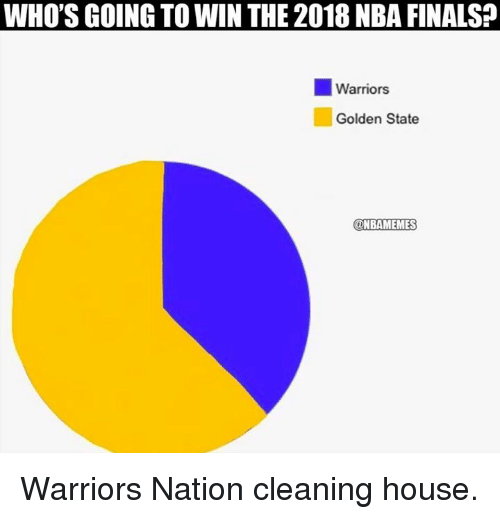 Cleaning House: WHO'S GOING TO WIN THE 2018 NBA FINALSA  Warriors  Golden State  @NBAMEMES Warriors Nation cleaning house.