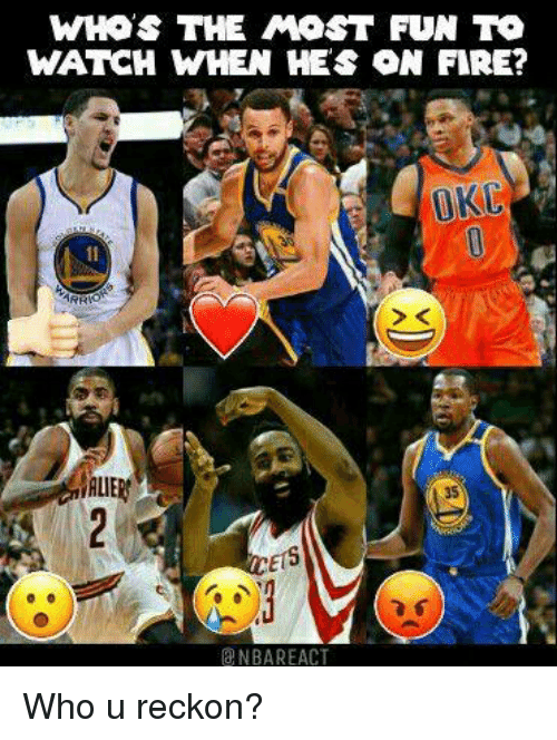 WHOS THE MOST FUN TO WATCH WHEN HES ON FIRE? OKU NBA REACT