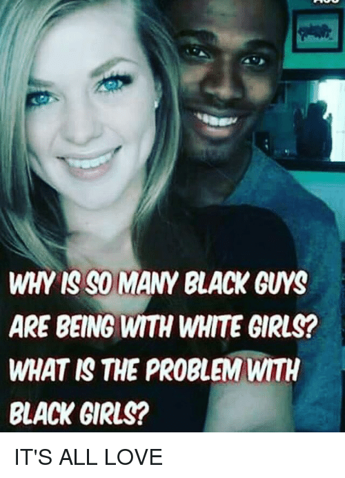 Black girl dating white guy meme