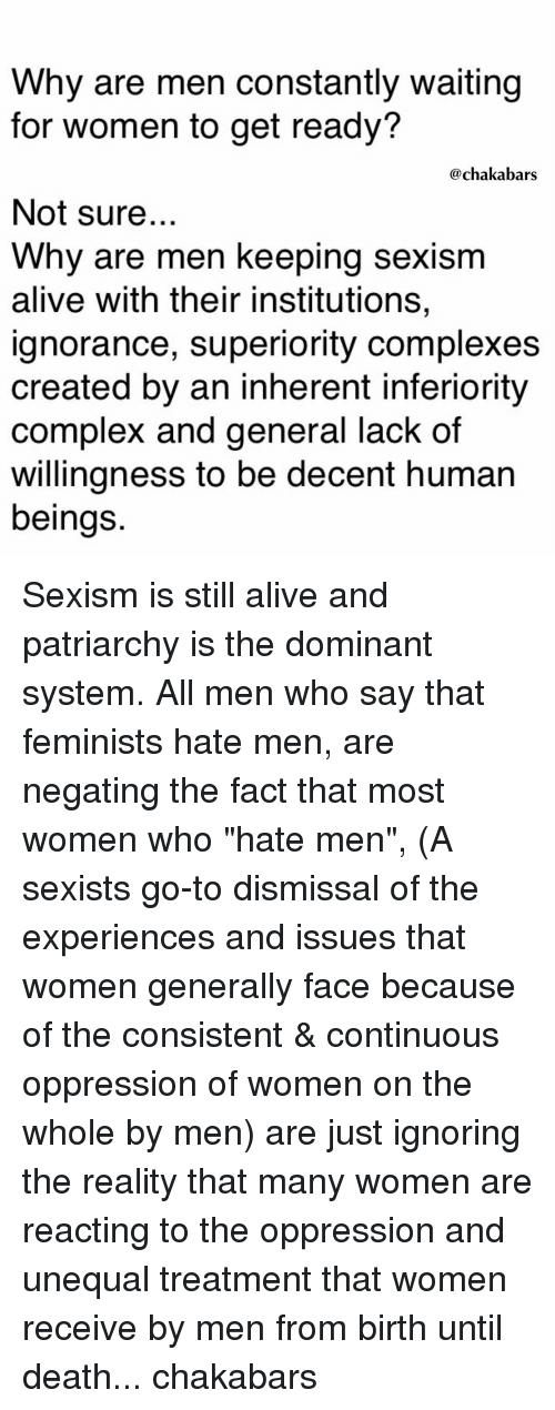 oppressive to women and sexist essay