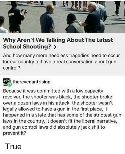 Why Aren't We Talking About The Latest School Shooting