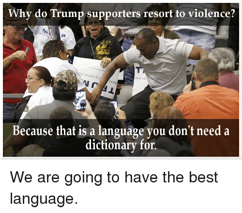 why do people resort to violence (usually foll by to) to have recourse (to) for help, use, etc: to resort to violence   persuade people to do what he wanted, so he resorted to threats of violence.