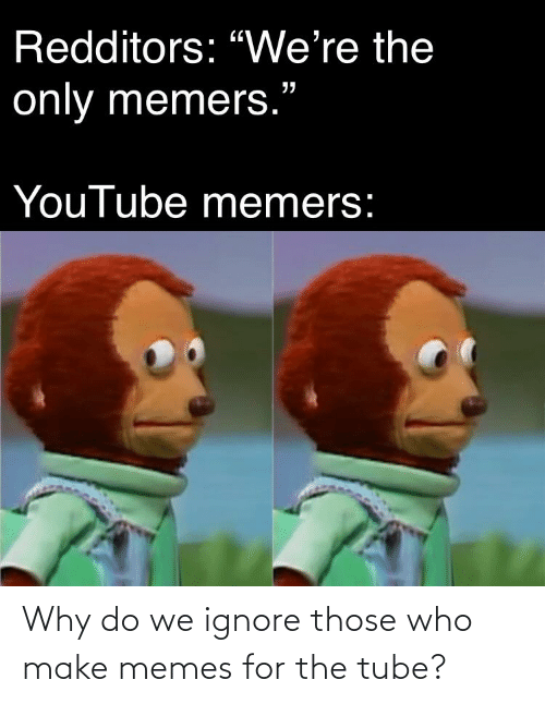 Tube: Why do we ignore those who make memes for the tube?