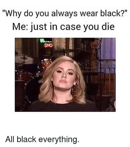 beautiful all black outfit meme 8