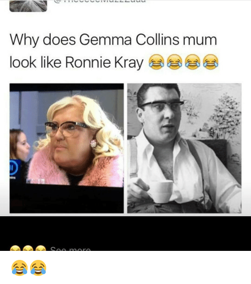 Memes, 🤖, and Krays: Why does Gemma Collins mum  look like Ronnie Kray  A A A Soo more 😂😂