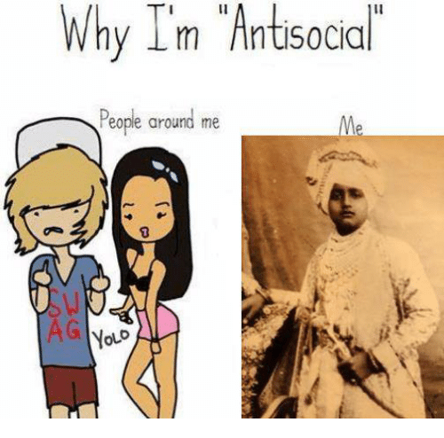 Sick Sikh: Why I'm Antisocial  People around me  AG